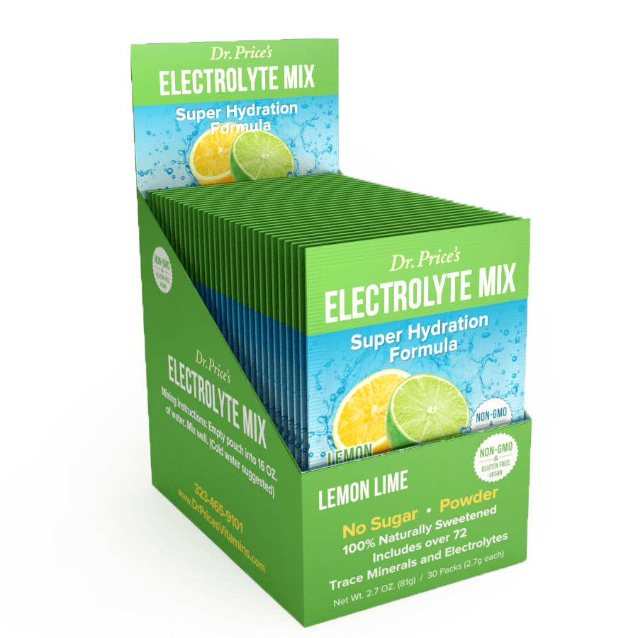 Electrolyte Mix Lemon-Lime Flavor - 30 Individual Packets